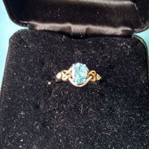 Rich Color Topaz Ring 10k and 925
